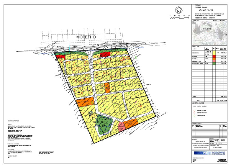 layout plan for township